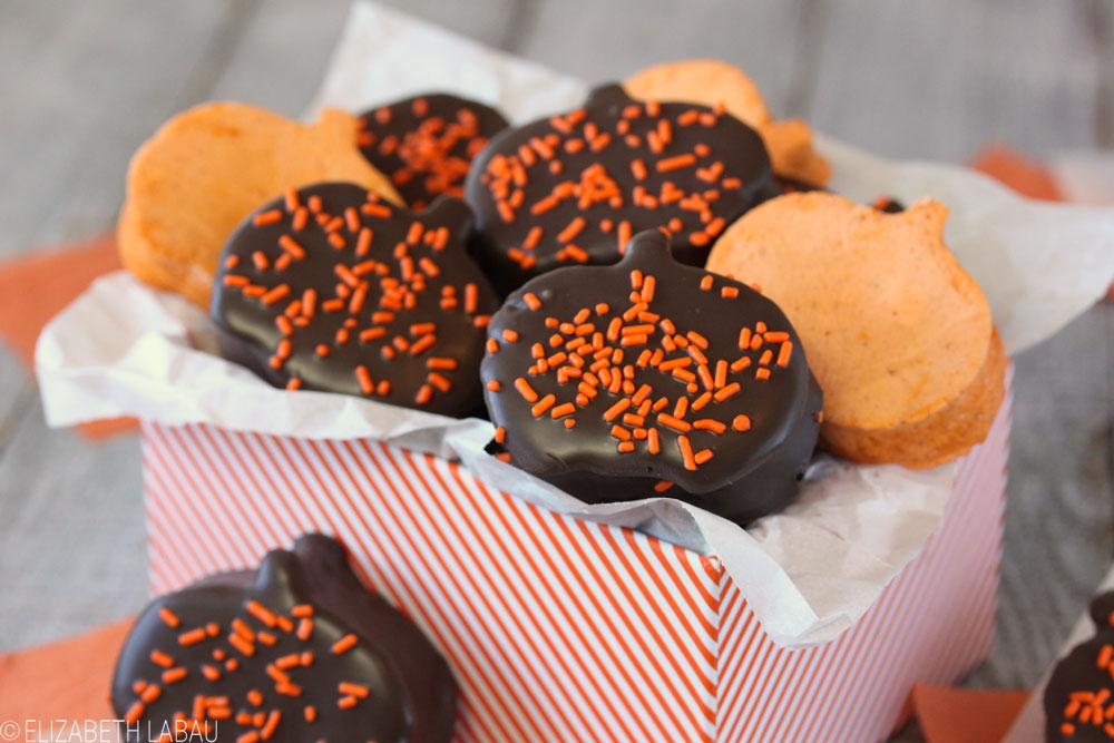 Chocolate-Covered Pumpkin Marshmallows